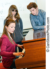 piano lessons at a music school