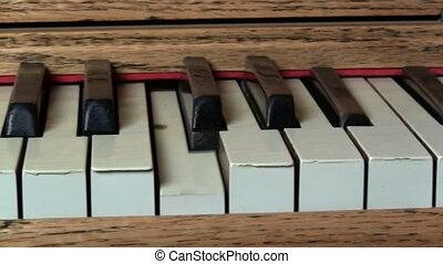 piano mécanique, closeup