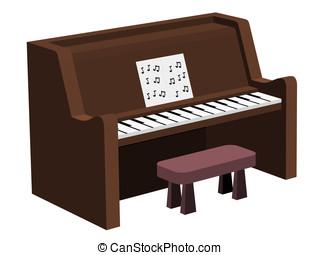 piano, música hoja