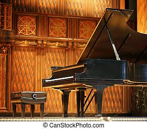 piano magnífico de concierto