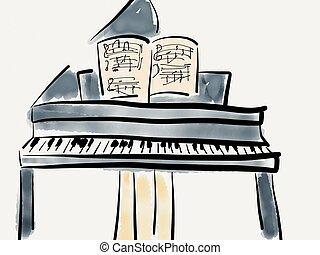 piano, magnífico