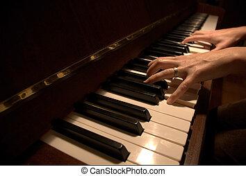 piano, manos