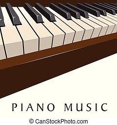 Piano music background
