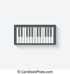 piano music design element