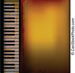 Piano Music Retro Background