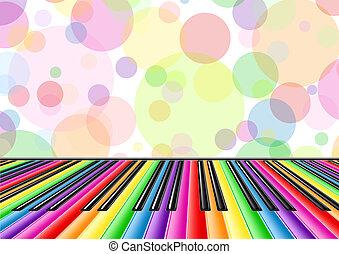 piano, musical, fundo, teclado