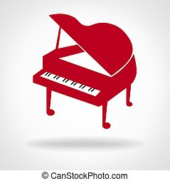 piano musical instrument vector illustration