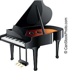 piano, musician's