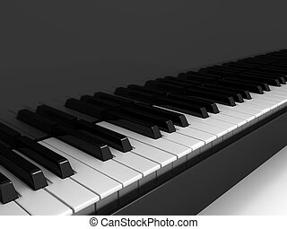 Piano over background