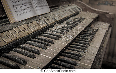 Piano - Abandoned Building