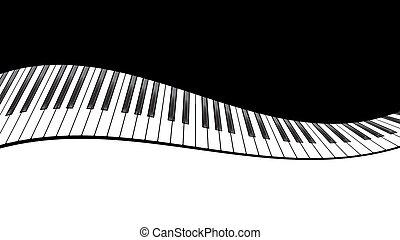 piano, plantilla