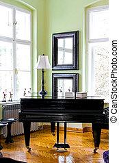 piano, pretas