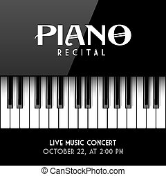 Piano recital poster