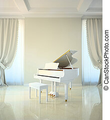 piano room in classic style