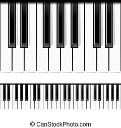 piano, seamless, vector., keys.