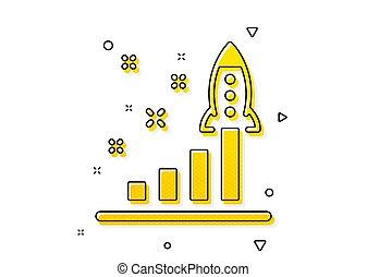 piano, sviluppo, vettore, affari, lancio, avvio, icon., segno.