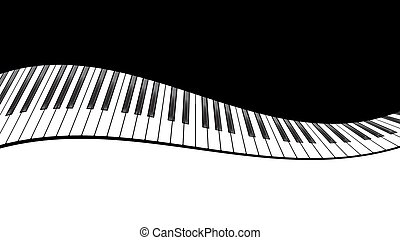 piano, szablon