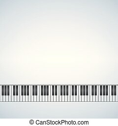 Piano Template Music Creative Concept Illustration With Blank Space For Text