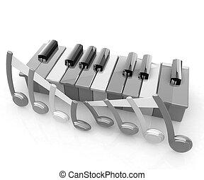 piano toetsen, colorfull