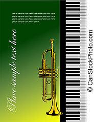 piano, trompete