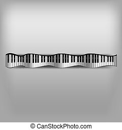 piano, vague, clavier