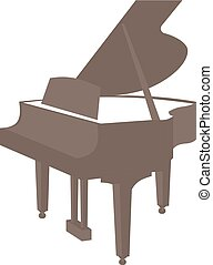 Piano vector icon isolated on white background
