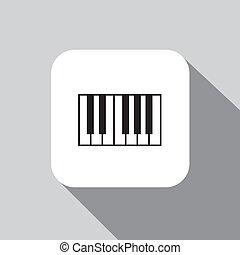 piano, vetorial, ícone
