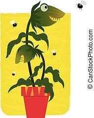 Pianta carnivora pianta umano divorare illustrazione for Pianta carnivora prezzo