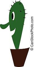 pianta, colorare, grande, illustrazione, vettore, naso, ...