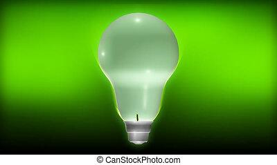 pianta, crescente, da, uno, lampadina