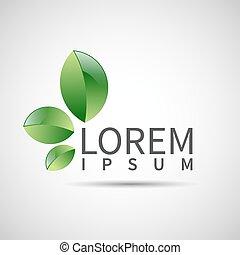 pianta, ecologia, foglia, simbolo, vettore, astratto