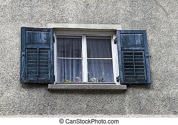 pianta, finestra, otturatori, conservato vaso