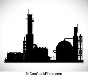 pianta industriale, disegno