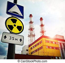 pianta nucleare, radioattività, potere, segno