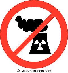 pianta potenza nucleare, non lasciato, segno