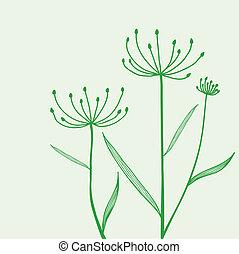 pianta, sfondo verde