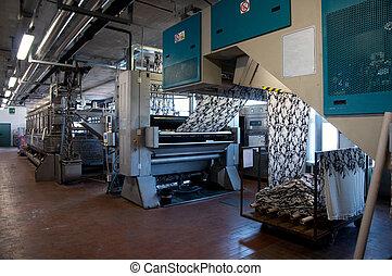 pianta tessile, stampa, industry: