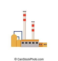 piante, costruzioni, industriale, potere, fabbrica, vettore