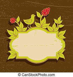 piante, uccelli, illustrazione