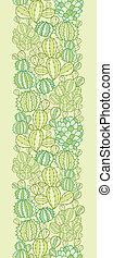 piante, verticale, modello, seamless, struttura, cactus, bordo