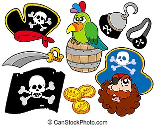 Piarte collection 8 - Pirate collection 8 on white...