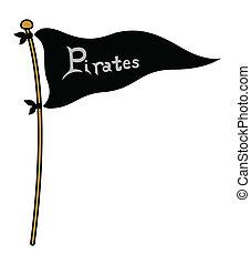 Piartes Flag - Cartoon Vector