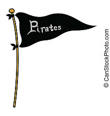 Piartes Flag - Cartoon Vector