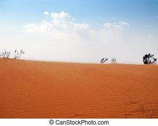 piasek, czerwona pustynia