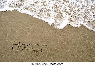 piasek, honor