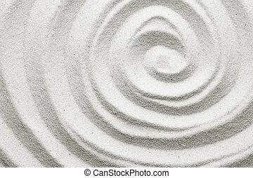 piasek, spirala