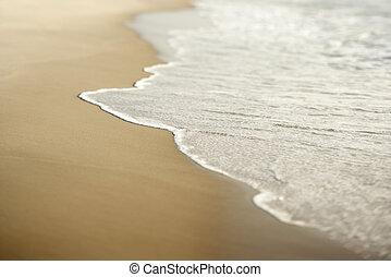 piasek, z, waves.