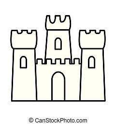 piasek zamek, ikona