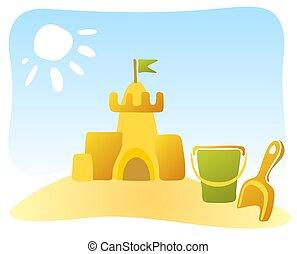 piasek zamek