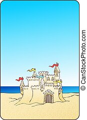 piasek zamek, tło